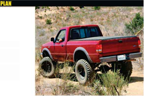 Red Ford Ranger Huge Lift - Body Lift - Woonky Mobile