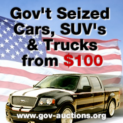 Government and Police Auctions for Cars
