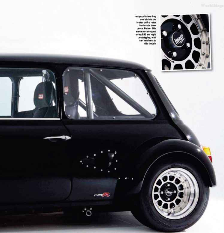 Austin Mini Cooper Split Rims